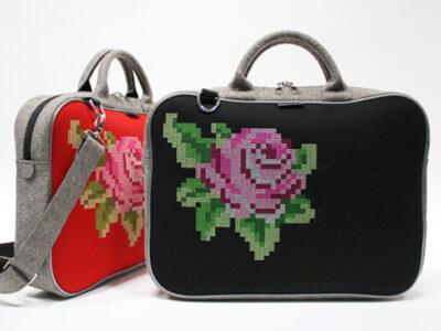 Geborduurde roos